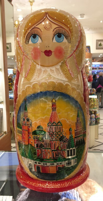 620 mm Moscow Churches Hand painted Russian Matryoshka doll 40 pcs (by Valery Studio)