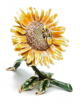 80 mm Sunflower Jewellery Box