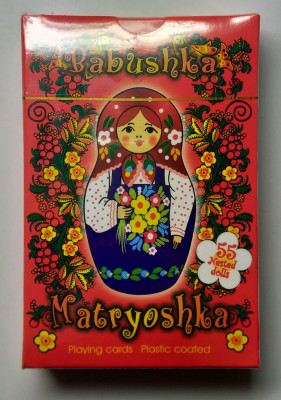 Matryoshka Playing Cards Red