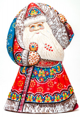 190 mm Santa Claus hand carved and painted wooden statue (by Natalia Workshop)