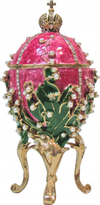 155 mm The Lilies of the Valley Pink Easter Egg