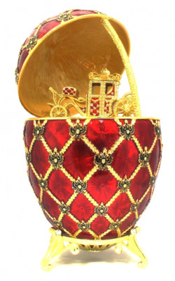 200 mm Imperial Coach and Red Imperial Coronation Music Easter Egg