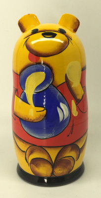 Winnie the Pooh hand painted wooden Matryoshka Doll 5pcs painted by Marina