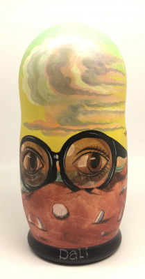 200 mm The Persistence of Memory by Salvador Dali hand painted Matryoshka Doll 5 pcs (by Alexander famous paintings)