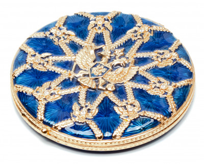 70 mm Royal Eagle Blue Compact Mirror