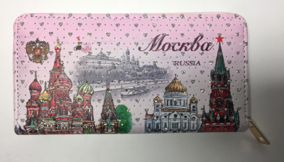 190x100 mm Moscow Kremlin Long Wallet (by RA Souvenirs)