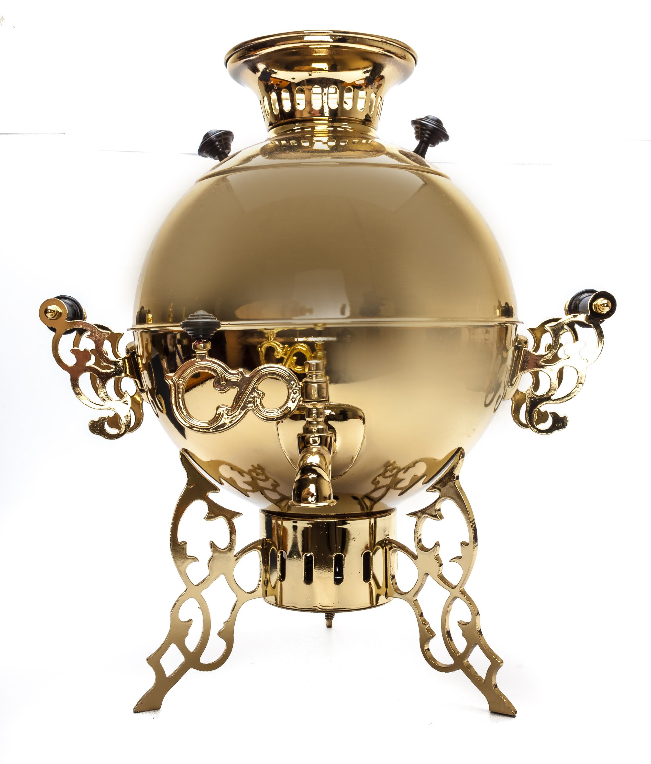 The Spider Electric Samovar Kettle Golden