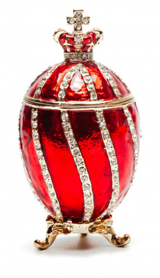 80 mm Red Twisted Eater Egg with the Crown