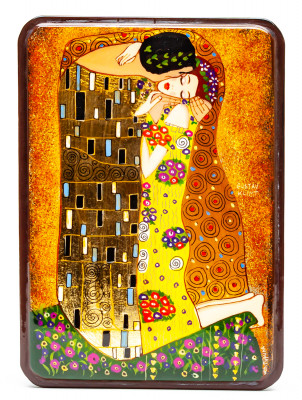 110x150mm The Kiss Hand Painted Jewellery Box (by Tatiana Shkatulka Crafts)
