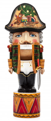 290 mm Nutcraker Hand Carved and Painted Wooden Figurine with Saber (be Sergey Christmas Workshop)