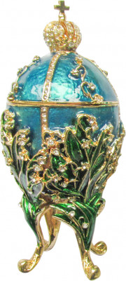 130 mm The Lilies of the Valley Blue Easter Egg