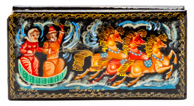 100x50mm Troika Hand Painted Jewellery Box