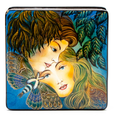 80x80mm Tenderness Hand Painted Jewellery Box (by Sadko Workshop)