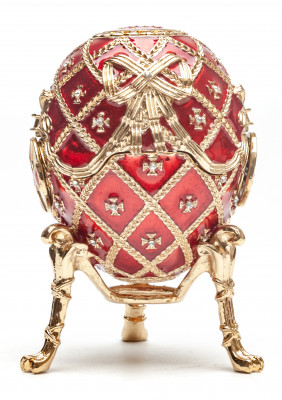 90 mm The Cross of Snt George Easter Egg with Portrait of Tsar Nicholas II of Russia