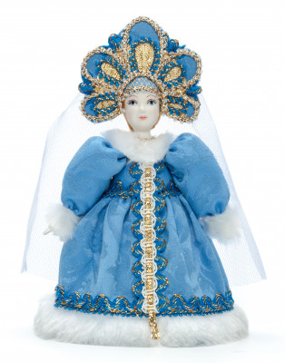 Snow Maiden Princess Porcelain Doll