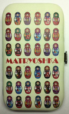 Many Matryoshkas Metal Manicure Set in a hard case (by AKM Gifts)