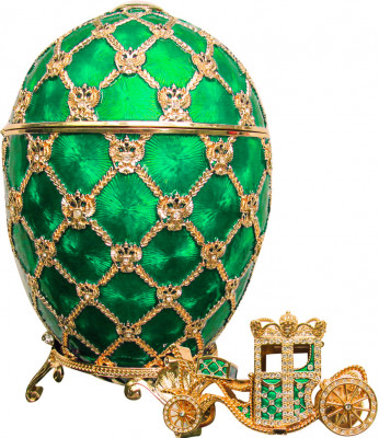 200 mm Imperial Coach and Green Imperial Coronation Music Easter Egg