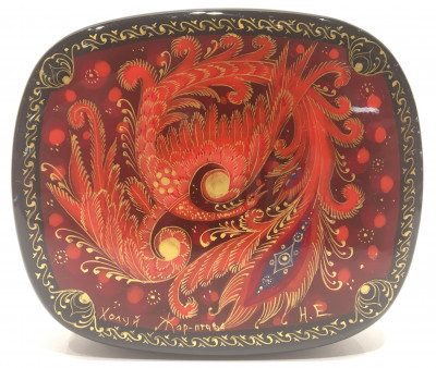 Firebird Hand Painted Jewellery Box