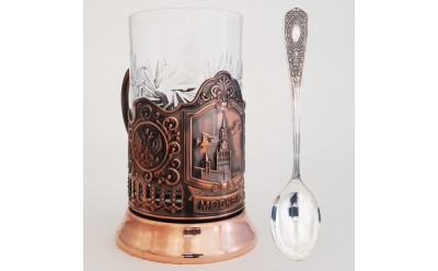 Spasskaya tower Pure Copper Tea Glass Holder (by Kolchugino)
