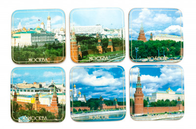 Coasters with Moscow