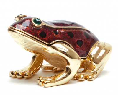 35 mm Frog Red Jewellery Box