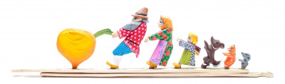525x150 mm The Gigantic Turnip Fairytale Hand Carved and Painted Wooden Toy (by Skazka)
