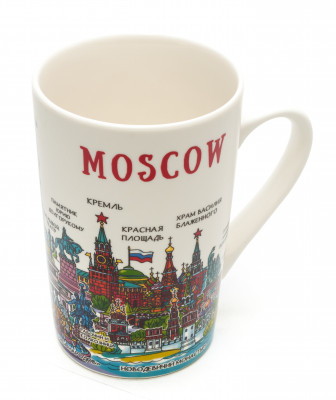Moscow Pictograph Porcelain Mug