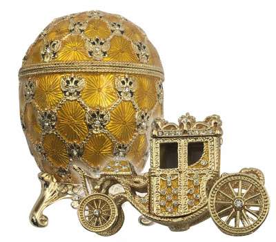 95 mm Imperial Coach and Gold Imperial Coronation Easter Egg