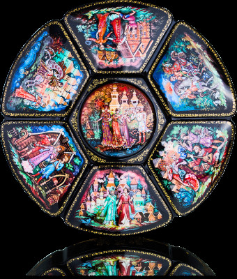 Russian Fairytales Hand Painted Jewellery Box