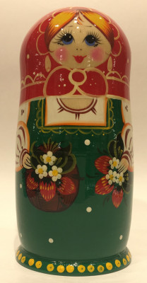 Strawberries Hand Painted Matryoshka Doll 5 pcs