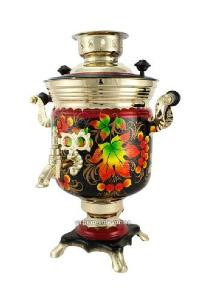 Golden Autumn Hand Painted Electric Samovar Kettle