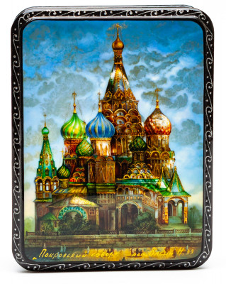 80x110mm Saint Basil Cathedral Hand Painted Jewellery Box