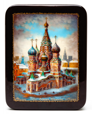 135x175mm Saint Basil Cathedral hand painted lacquered jewelery box (by Panferoff Studio)