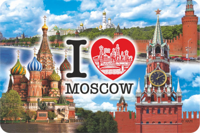 105x70 mm Snt Basil Cathedral Foil Fridge Magnet