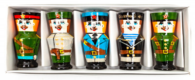 220x70 mm Russian Army Christmas Ornaments set of 5 pcs (by Andrey Studio)