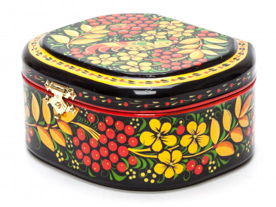 120x100 mm Khokhloma Painting Jewellery Wooden Box