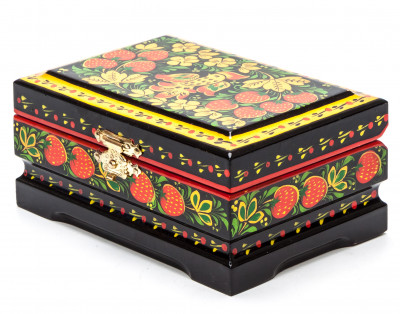 120x80 mm Khokhloma Painting Jewellery Wooden Box