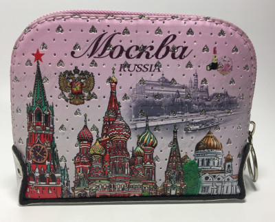 130x90 mm Moscow Kremlin Trim Coin Purse (by RA Souvenirs)