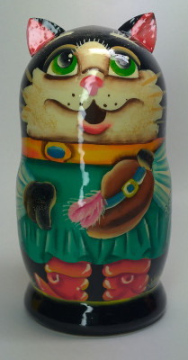 120mm Puss in Boots hand painted Matryoshka 3pcs (by Gift Shop)
