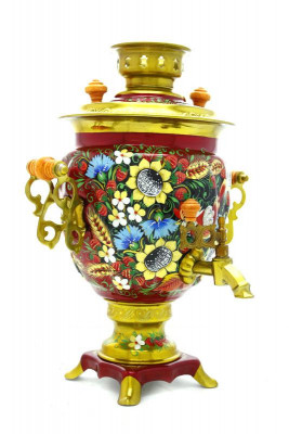 Sunflower Hand Painted Electric Samovar Kettle