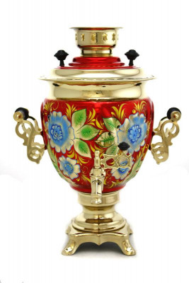 Cornflower Hand Painted Electric Samovar Kettle