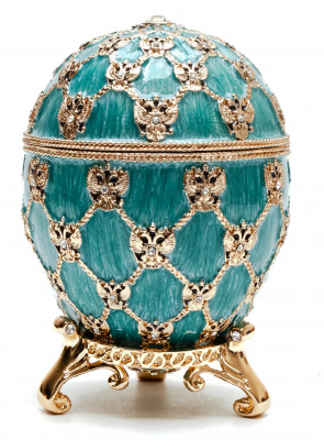 96 mm Imperial Coach and Blue Imperial Coronation Easter Egg