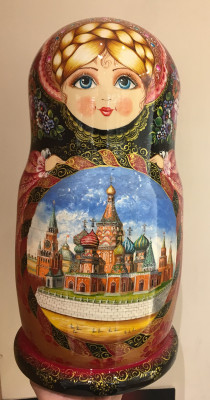 Moscow Zhostovo Unique matryoshka doll 30 pcs