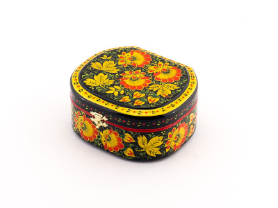 Khokhloma Painting Jewellery Wooden Box 120x100mm