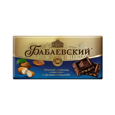 Babaevsky Dark Chocolate with Almond (100 gr)