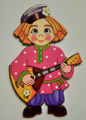 85x55 mm Balalaika Player (by Birch Gifts)