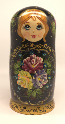 180 mm Summer Flowers hand painted Russian Matryoshka Doll 5pcs (by Summer Shine)