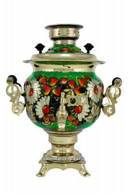 Daisies Hand Painted Electric Samovar Kettle