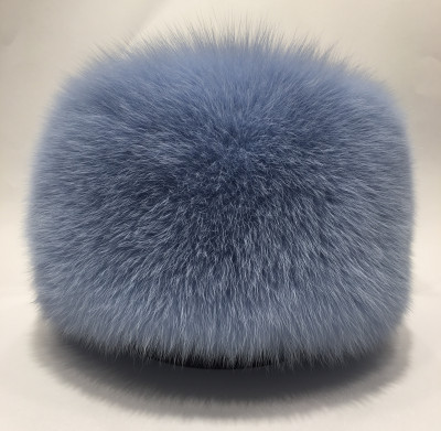 Blue Polar Fox Fur All Round Hat