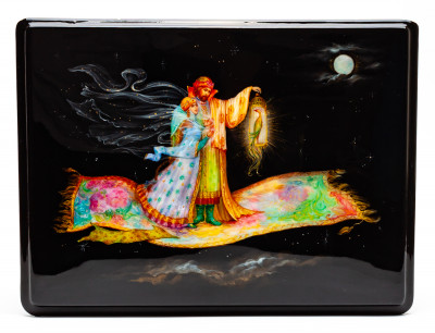 240x180 mm The Flying Carpet Hand Painted Jewellery Box (by Alexander G Studio)
